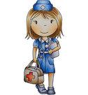 Paper Nest Dolls stempel Nurse Ellie