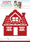YCD10034 Snijmal Yvonne Creations Cozy Christmas Gingerbread House