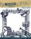 MUSD10001 Snijmal Musical Frame - muziek serie