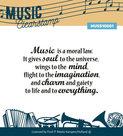 MUSS10001 Clearstamp tekst Music serie