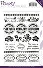 PMCS10010 Clear stamps Flowery Collection Precious Marieke teksten