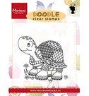 EWS2218 Stempels -Doodle clear stamps Turtle Marianne Design