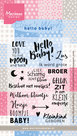 EC0165 Clear stempel Eline's Words hello baby Marianne Design