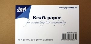 8089-0206 Kraft papier 15x30 cm - 300 grams