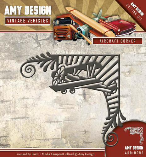 Amy Design -Die - Vintage Vehicles - Aircraft Corner