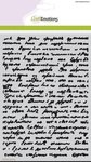 185070-1124 CraftEmotions Mask stencil - achtergrond tekst A5