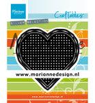 CR1482 Craftables snijmal Cross Stitch Heart