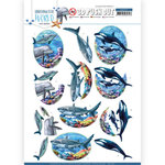 SB10457 3D Push Out - Amy Design - Underwater World - Big Ocean Animals