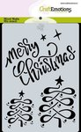 185070-0117 CraftEmotions Mask stencil Christmas - Merry Christmas Carla Creaties
