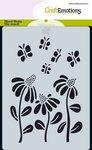 185070-0112 CraftEmotions Mask stencil Bugs - bloem A6 Carla Creaties