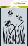 185070-0111 CraftEmotions Mask stencil Bugs - gras A6 Carla Creaties