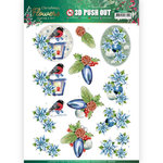 3D Push Out - Jeanines Art Christmas Flowers - Christmas Lantern SB10480