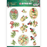 3D Push Out - Jeanines Art Christmas Flowers - Mistletoe SB10478