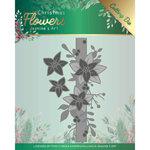 Snijmal - Jeanines Art Christmas Flowers - Poinsettia Border JAD10105