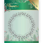 Snijmal - Jeanines Art Christmas Flowers - Holly Christmas Wreath JAD10103