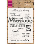 CS1018 Clearstamps Dream sentiments UK - Marianne Design