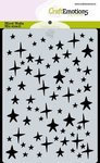185070-0136 CraftEmotions Mask stencil sterren hemel A6 Carla Creaties