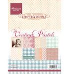 PK9080 Pretty Papers Bloc Vintage Pastels