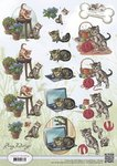 CD10453 3D Knipvel  Amy Design  Felines - katten