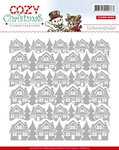 YCEMB10004 Embossingfolder Yvonne Creations Cozy Christmas