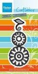 CR1357 Craftables snijmallen flower set Funky