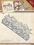 YCD10069 Snijmal Holly Jolly Snowflake Border Yvonne Creations