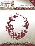 ADD10068 Snijmal Ornament Christmas Greetings Amy Design