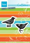 CR1380 Craftables snijmallen Tiny's ornaments birds Marianne Design
