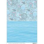 BGS10030 Achtergrondpapier Amy Design Maritime zee
