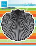 CR1411 Craftables stencil seashell XL