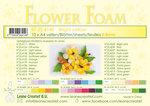 Flower foam sheets a4 Bright yellow