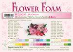 25.4247 Flower foam sheets a4 bordeaux