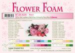 25.4230 Flower foam sheets a4 Red