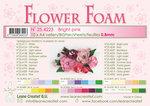 25.4223 Flower foam sheets a4 Bright pink