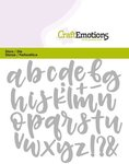 115633-0427 CraftEmotions Die - alfabet handlettering kleine letters Card
