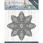 PM10140 Dies - Precious Marieke - Winter Flowers - Floral Snowflake