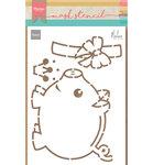 PS8027 Craftstencil Piggybank by Marleen