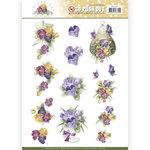 SB10355 3D Pushout Precious Marieke Blooming Summer - Pansies