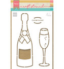 PS8051 Craftstencil Champagne by Marleen