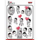 CD11467 3D knipvel Yvonne Creations - Petit Pierrot - With Love