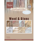 PK9170 Pretty Papers Bloc Wood Stone A4