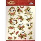 CD11503  3D knipvel - Precious Marieke - Touch of Christmas - Birds