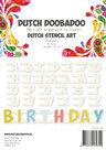 470.990.070 Dutch Doobadoo stencil Alphabet