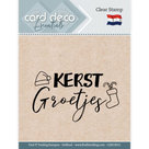 CDECS012 Card Deco Essentials clearstamps Kerstgroetjes