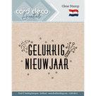 CDECS011 Card Deco Essentials clear stamps Gelukkig Nieuwjaar