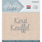 CDECD0040 Card Deco Essentials snijmal KerstKnuffel