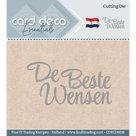 CDECD0038 Card Deco Essentials snijmal De Beste Wensen