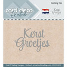 CDECD0037 Card Deco Essentials KerstGroetjes