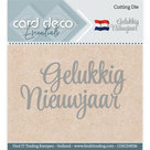 CDECD0036 Card Deco Essentials snijmal Gelukkig Nieuwjaar