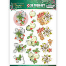 3D Push Out - Jeanines Art Christmas Flowers - Christmas Bells SB10479